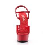 Rojo 15 cm DELIGHT-609 tacones altos pleaser con plataforma