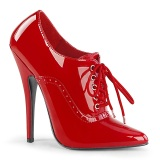 Rojo 15 cm DOMINA-460 zapatos oxford con tacones altos