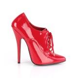 Rojo 15 cm DOMINA-460 zapatos oxford con tacones altos