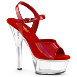 Rojo 15 cm KISS-209BHG Zapatos Tacón Aguja Plataforma