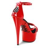 Rojo 16 cm Pleaser DELIGHT-662 Plataforma Tacones Altos