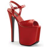 Rojo 18,5 cm Devious TRAMP-709 Fetiche Zapatos Tacón Aguja