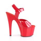 Rojo 18 cm ADORE-708N Zapatos Tacón Aguja Plataforma