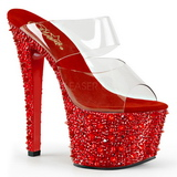 Rojo 18 cm BEJEWELED-702SP Piedras Brillantes Plataforma Zapatos
