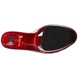 Rojo 20 cm FLAMINGO-801T Plataforma Zapatos Mules Mujer