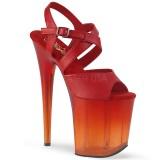 Rojo 20 cm FLAMINGO-822T Zapatos plataforma con tacones