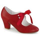 Rojo 6,5 cm WIGGLE-32 retro vintage zapatos de salón maryjane tacón ancho