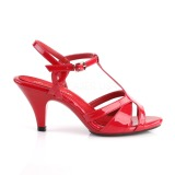 Rojo 8 cm BELLE-322 Zapatos para travestis