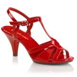 Rojo 8 cm Fabulicious BELLE-322 sandalias de tacón bajo