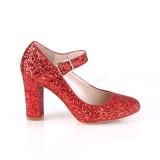 Rojo 9 cm SABRINA-07 zapatos de salón tacón ancho