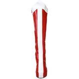 Rojo Blanco 11 cm Funtasma EXOTICA-305 Plataforma Botas Media