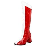 Rojo Blanco 7,5 cm GOGO-305 Botas de tacón de mujer