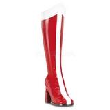 Rojo Blanco 8 cm GOGO-305 Botas de tacón de mujer