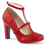 Rojo Brillo 10 cm QUEEN-01 zapatos de salón tallas grandes