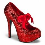 Rojo Brillo 14,5 cm Burlesque TEEZE-10G Platform Calzado de Salón