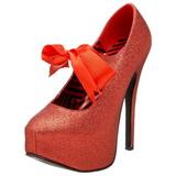 Rojo Brillo 14,5 cm TEEZE-04G Zapatos de tacón altos mujer