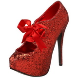 Rojo Brillo 14,5 cm TEEZE-10G Platform Calzado de Salón