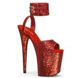 Rojo Brillo 20 cm Pleaser FLAMINGO-891LG Tacones Altos Plataforma