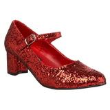 Rojo Brillo 5 cm SCHOOLGIRL-50G Zapato Salón Mary Jane