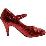 Rojo Brillo 7,5 cm GLINDA-50G Zapato Salón Mary Jane