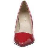 Rojo Charol 10 cm CLASSIQUE-20 Stiletto Zapatos Tacón de Aguja