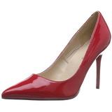 Rojo Charol 10 cm CLASSIQUE-20 zapatos puntiagudos tacón de aguja
