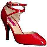 Rojo Charol 10 cm DREAM-408 zapatos de salón tallas grandes