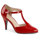 Rojo Charol 10 cm DREAM-425 zapatos de salón tallas grandes