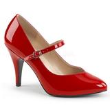 Rojo Charol 10 cm DREAM-428 zapatos de salón tallas grandes