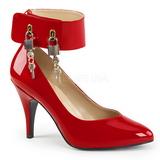 Rojo Charol 10 cm DREAM-432 zapatos de salón tallas grandes