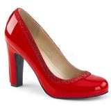 Rojo Charol 10 cm QUEEN-04 zapatos de salón tallas grandes