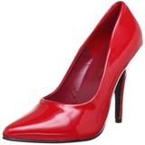 Rojo Charol 10 cm VANITY-420 Calzado de Salón Planos Tacón
