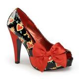 Rojo Charol 11,5 cm BETTIE-13 Plataforma Zapatos de Salón