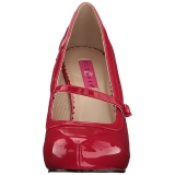 Rojo Charol 11,5 cm PINUP-01 zapatos de salón tallas grandes