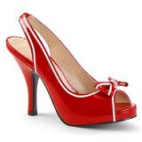 Rojo Charol 11,5 cm PINUP-10 sandalias tallas grandes
