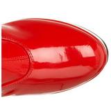 Rojo Charol 11 cm Funtasma EXOTICA-2000 Plataforma Botas Media