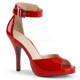 Rojo Charol 12,5 cm EVE-02 sandalias tallas grandes