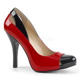 Rojo Charol 12,5 cm EVE-07 zapatos de salón tallas grandes