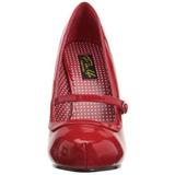 Rojo Charol 12 cm CUTIEPIE-02 Calzado de Salón Planos Tacón