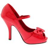 Rojo Charol 12 cm CUTIEPIE-08 Plataforma Zapatos de Salón