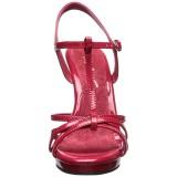 Rojo Charol 12 cm FLAIR-420 Sandalias Femininas Planos