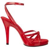 Rojo Charol 12 cm FLAIR-436 Sandalias Femininas Planos