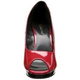 Rojo Charol 12 cm FLAIR-474 Plataforma Zapatos de Salón