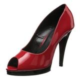 Rojo Charol 12 cm FLAIR-474 Zapatos de Salón para Hombres