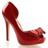 Rojo Charol 12 cm LUMINA-32 Zapato Salón de Noche con Tacón