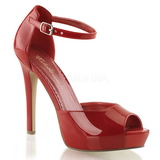 Rojo Charol 12 cm LUMINA-45 Zapato Salón de Noche con Tacon