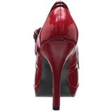 Rojo Charol 12 cm PINUP SECRET-15 Mary Jane Plataforma Zapatos de Salón