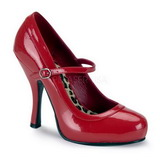 Rojo Charol 12 cm PRETTY-50 Calzado de Salón Planos Tacón