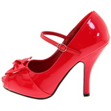 Rojo Charol 12 cm retro vintage CUTIEPIE-08 Plataforma Zapatos de Salón