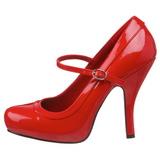 Rojo Charol 12 cm rockabilly PRETTY-50 zapatos de salón tacón bajo